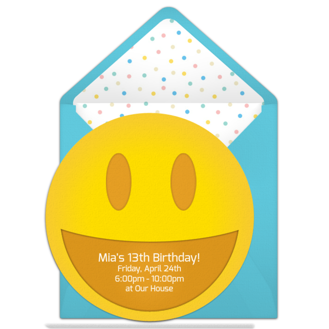 free smiley invitations rileigh ideas pinterest emoji