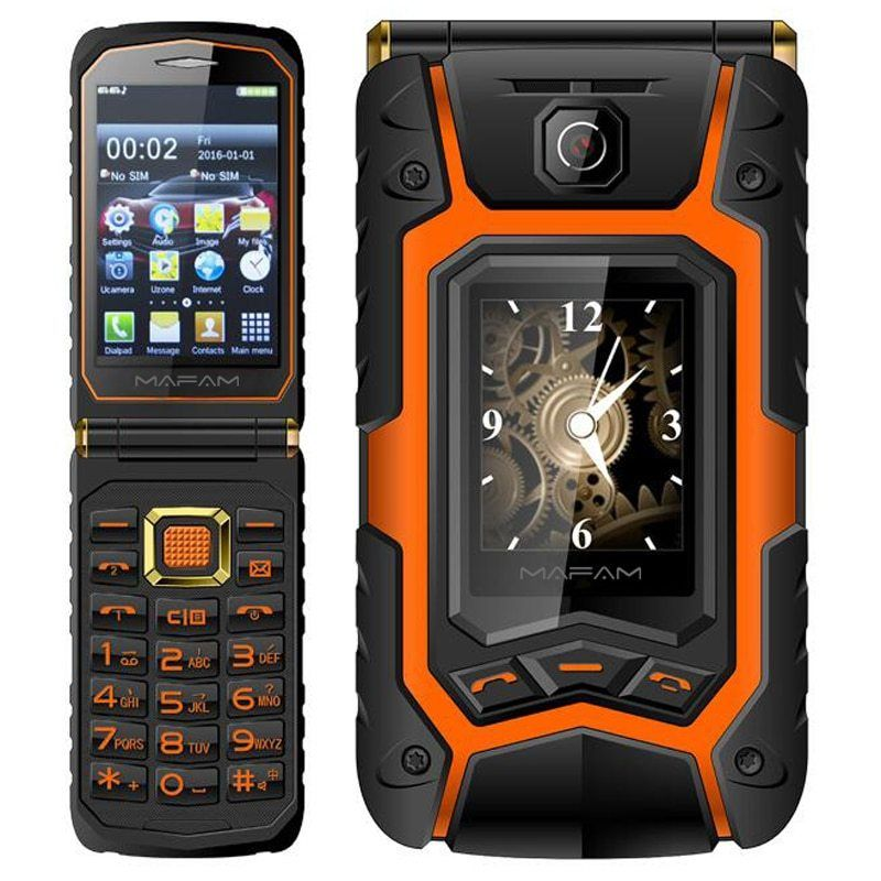 Comprar Tkexun Pantalla Dual 2 8 Pantalla Tactil Flip Telefono
