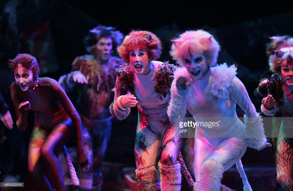 "Cast members perform excerpts of the musical ""Cats"" on"