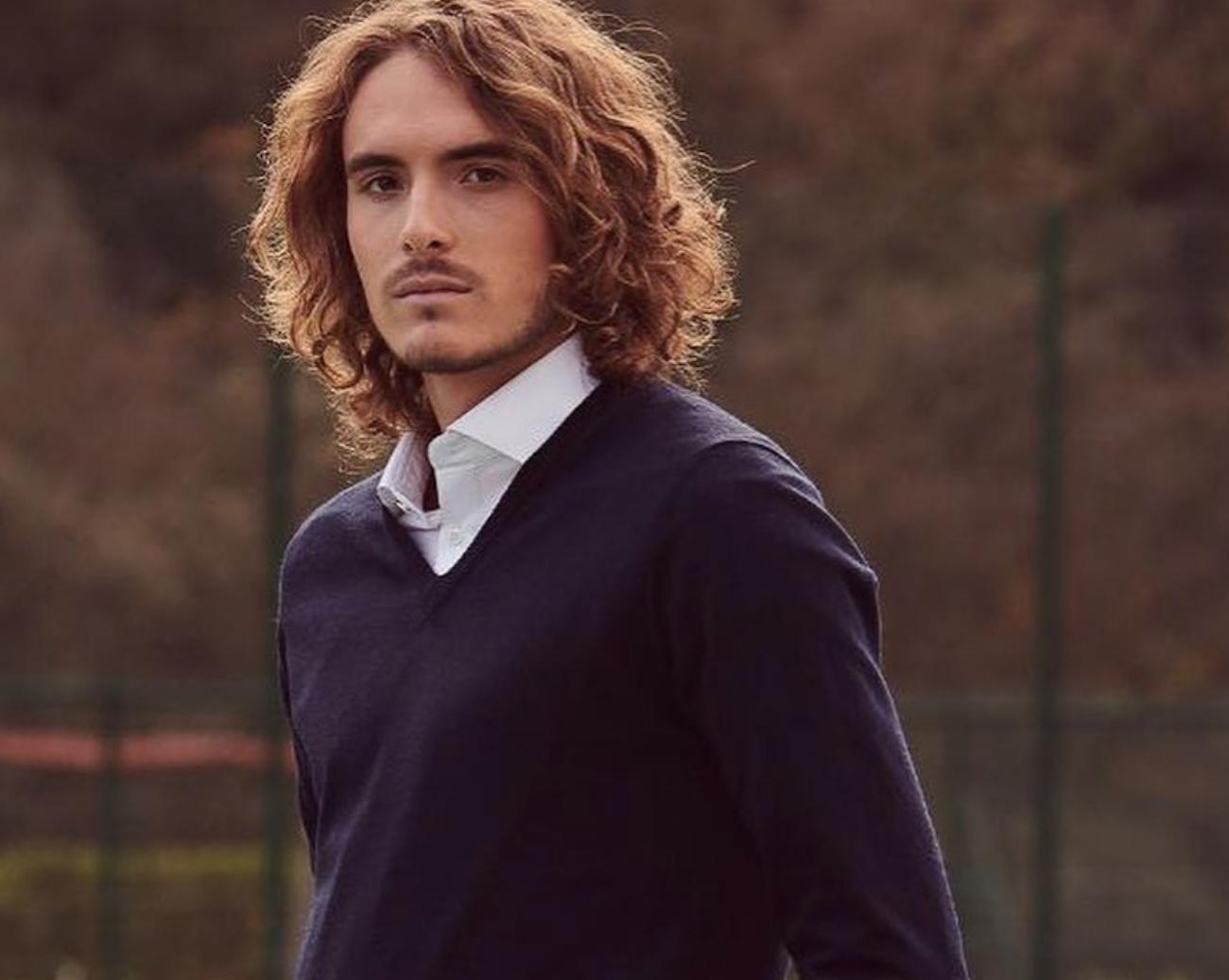 Stefanos Tsitsipas Cheveux Cheveux Longs