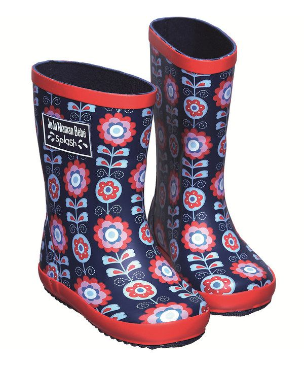 Take a look at this Navy Floral Rain Boot on zulily today!