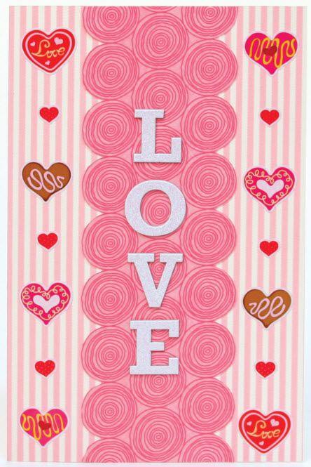 Glitter Love Valentine Card Nicole Crafts cardmaking