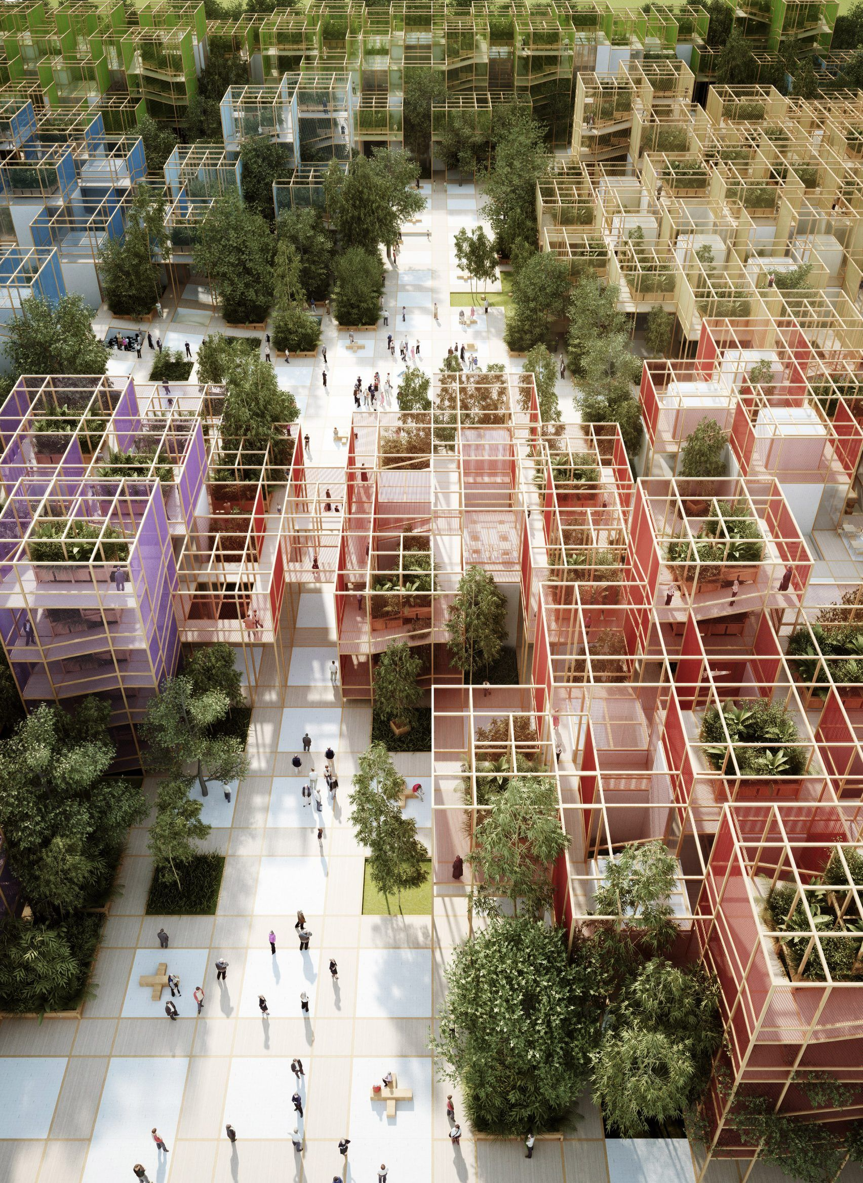 Penda designs modular wooden village for beijing - Maison familiale design a beijing en china par arch studio ...