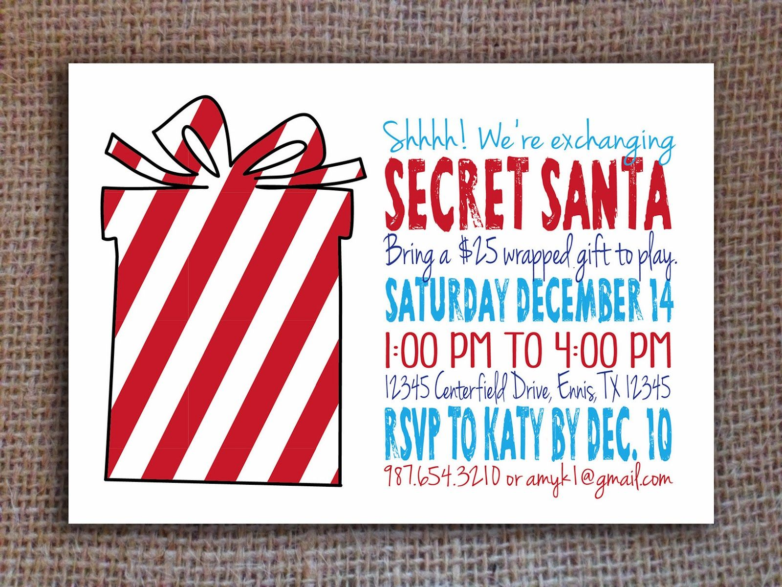 You Are Browsing Zazzle S Secret Santa Invitations And Announcements Section Where You Ll Find Many Great I Secret Santa Invitation Secret Santa Santa Template