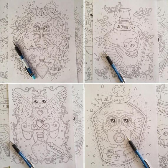4 Printable Harry Potter Coloring Book Pages Download