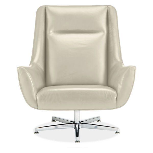 Charles Leather Swivel Chair U0026 Ottoman