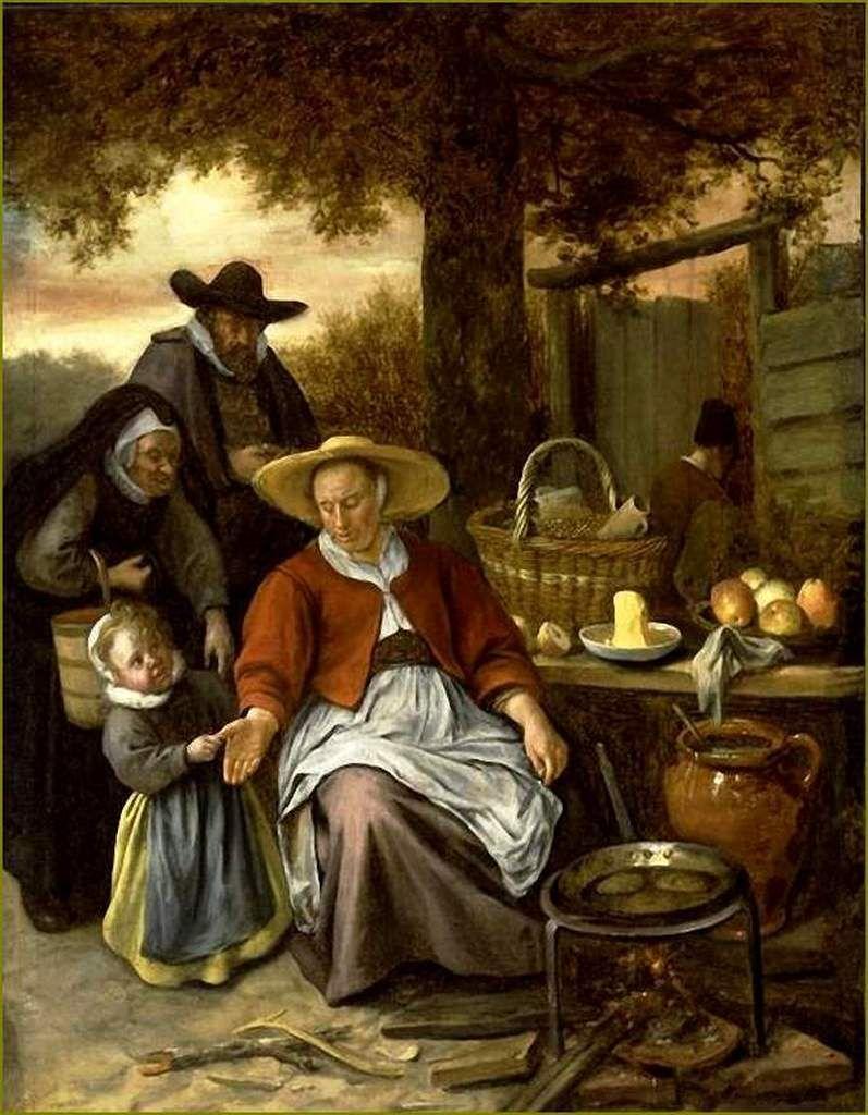 La Chandeleur Par Les Peintres Jan Steen 1626 1679 La Marchande De Crepes Balades Comtoises Les Arts Peintre Peintre Hollandais