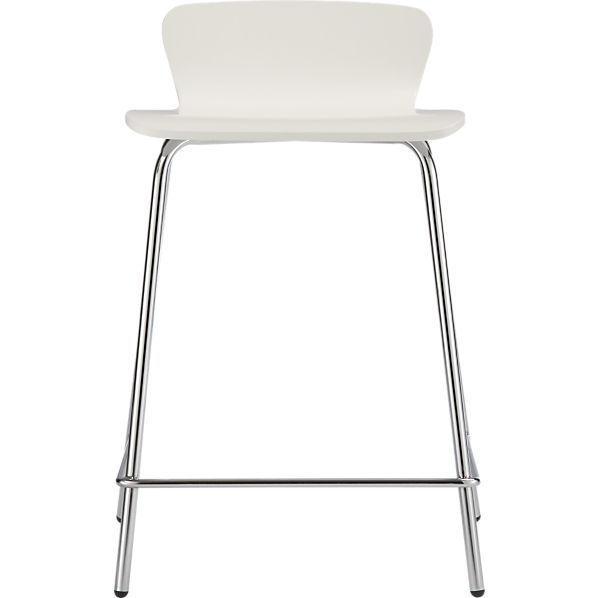 119 Felix 24 White Counter Stool In Barstools Crate And Barrel