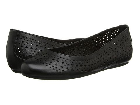 ECCO Owando Black Soft Touch - 6pm.com $105 Black Perforated Flats