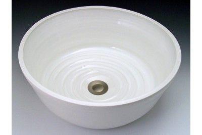Indikoi US109 U-Style 15 Inch White Round Porcelain Under ...