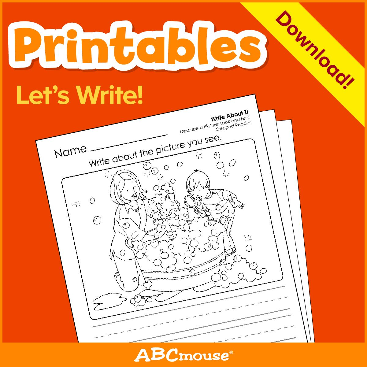 Printables Let S Write By Abcmouse Com In 2020 Writing Printables Writing Activities Writing