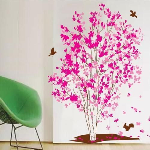 Bird Wall Decals | Vinilos | Pinterest | Flower tree, Vinyl art and ...
