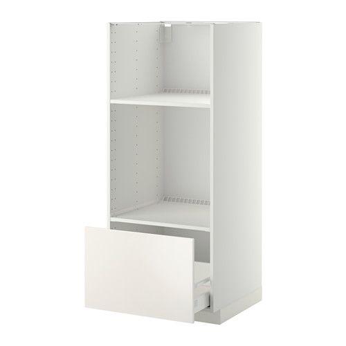 Metod High Cab For Oven Micro W Drawer White Veddinge White Ikea