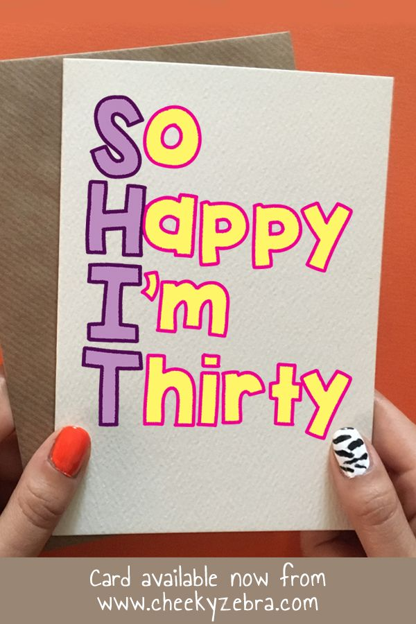 Pin On 30th Birthday Cards