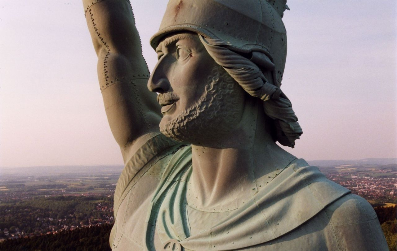 Hermannsdenkmal Near Detmold In Ostwestfalen Lippe Germany Statue German Girls Germany
