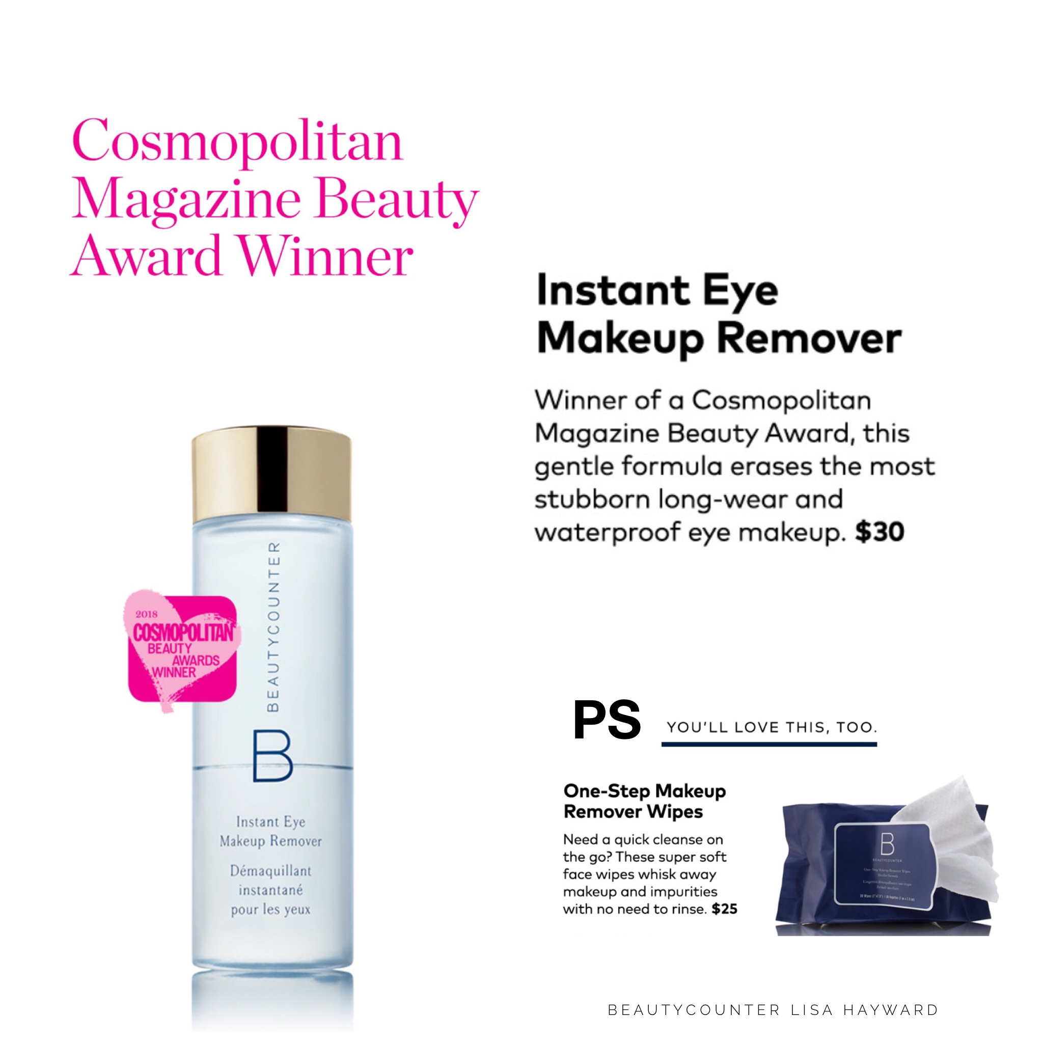 Shop Our Cosmopolitan Magazine Beauty Award Winner And Erase Your Most Stubborn Waterproof Mascara With The Saf Eye Makeup Remover Makeup Remover Beautycounter