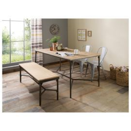 Buy Arizona Metal Wood Dining Table From Our Tables Range