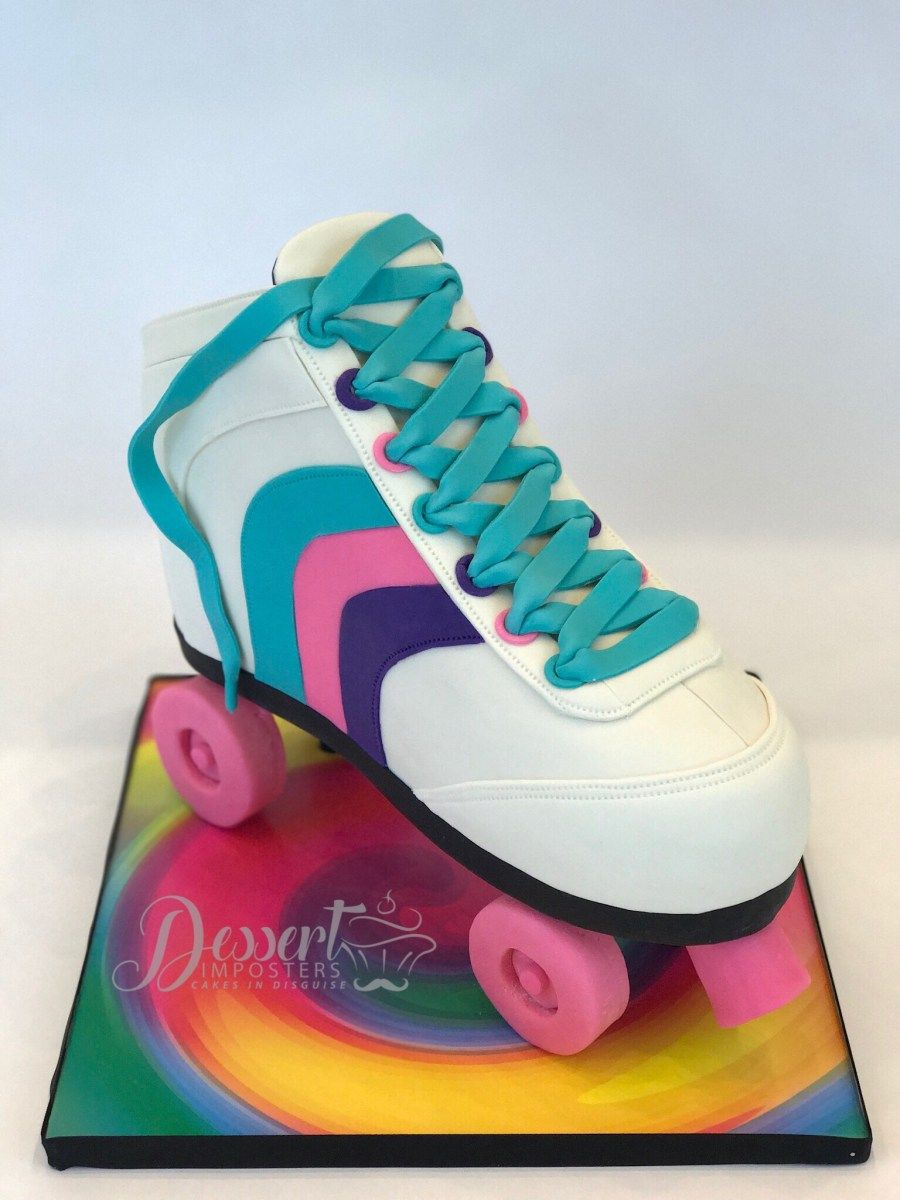 Roller Skate Cake Tutorial Roller Skating Party Roller Skate Cake Disco Cake