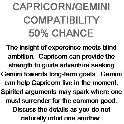 Capricorn and gemini marriage