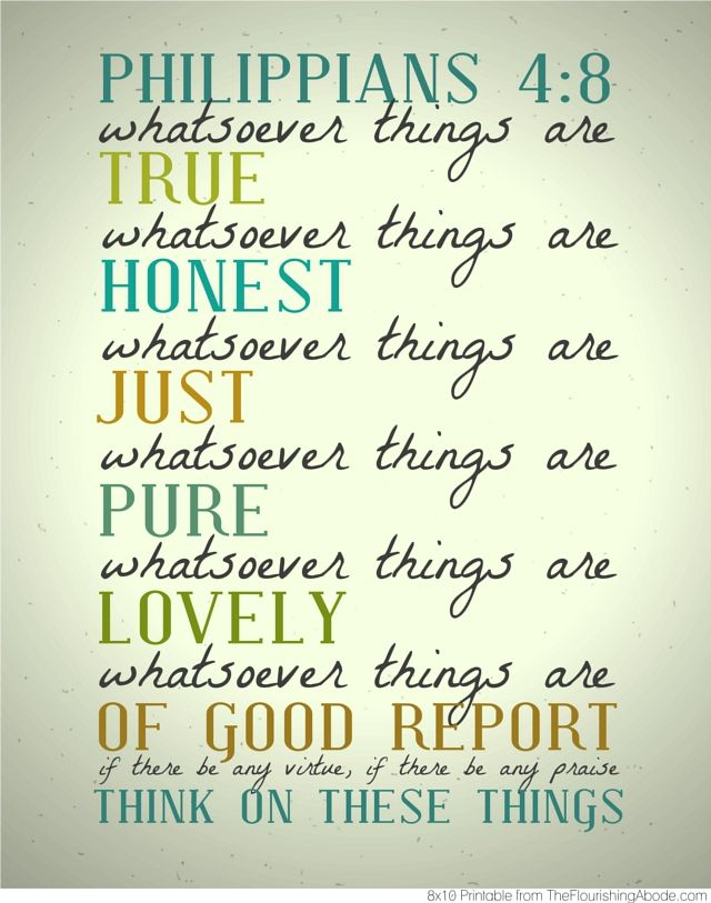 I just love scripture art! Philippians 4-8