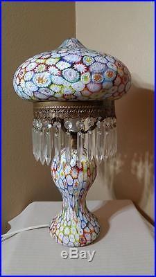 Beautiful Millefiori Lamp Murano Lamp Vintage Murano Lamp Millefiori Glass