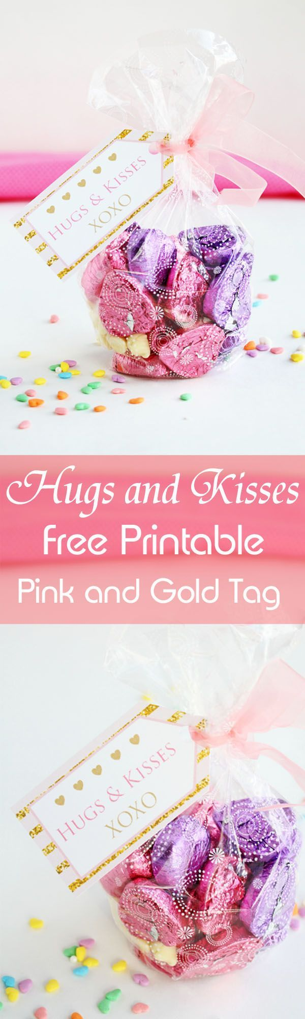 Hugs and kisses free printable pink and gold tag free printable hugs and kisses free printable pink and gold tag negle Choice Image