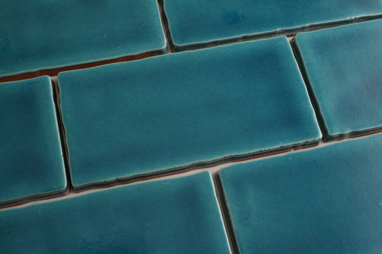 150x75mm Teal Handmade Style Subway Wall Tile | Wall tiles, Teal and ...