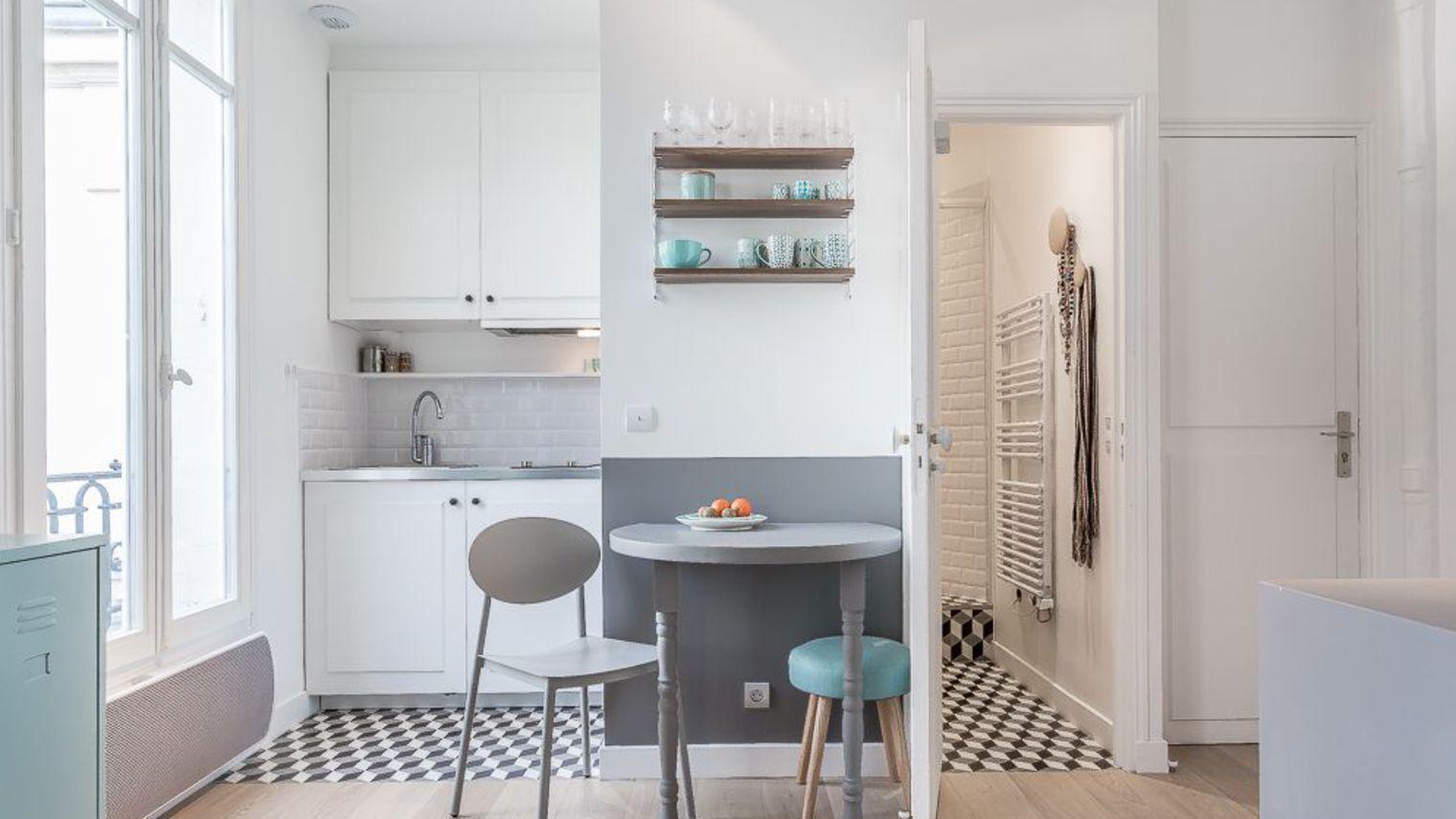 2,4 m2 pour une cuisine maxi chic | Small spaces | Pinterest
