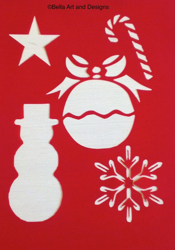 List 6 Christmas stencils Free gift with by ...