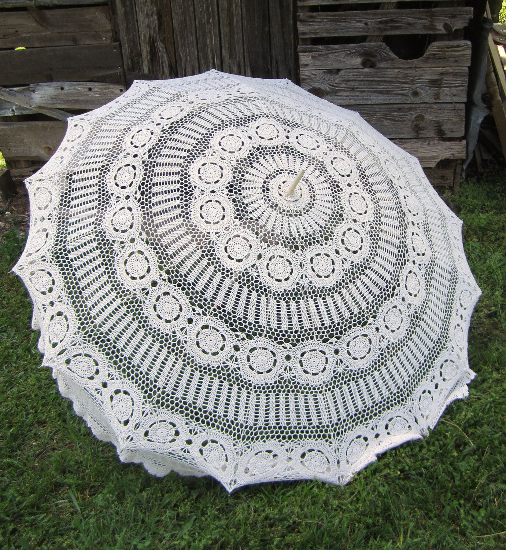 crochet umbrella-OOAK. $50.00, via Etsy. | Vintage | Pinterest | Schirm