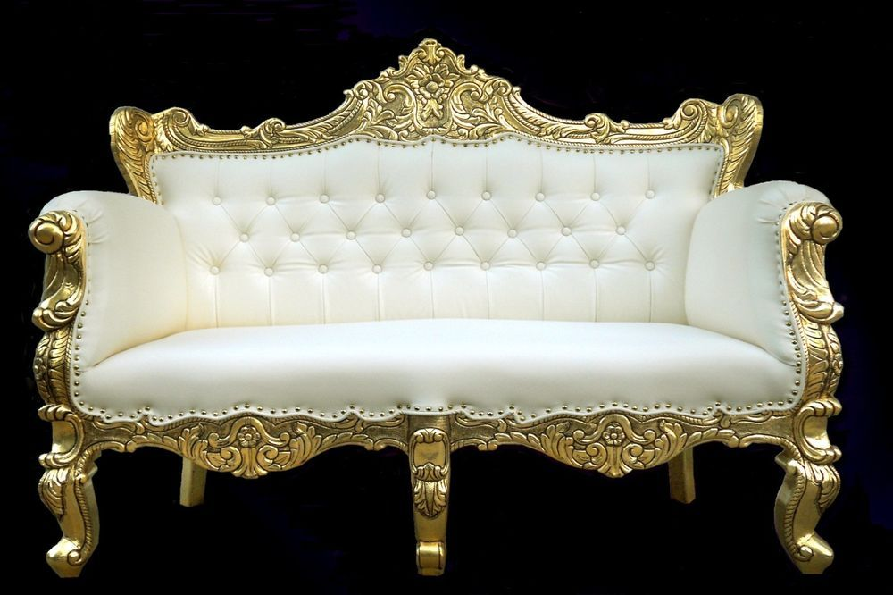 Andrea French Rococo Carved Gold U0026 White Sofa  AFFORDABLE LUXURY!  #LanskyStudio #FrenchRococo