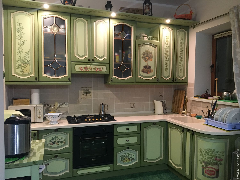 купить кухня в стиле прованс оливковый фисташковый прованс