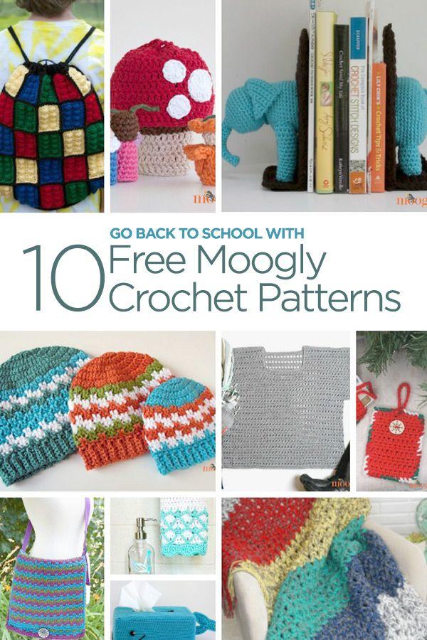 Go Back to School with 10 Free Moogly Crochet Patterns | Crochet ...