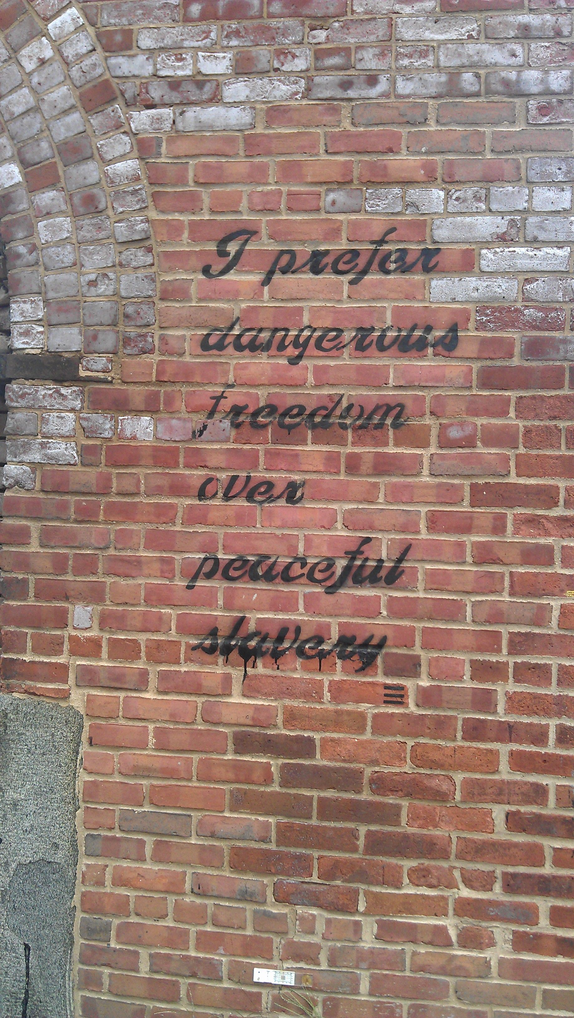 I Prefer Dangerous Freedom Over Peaceful Slavery Brooklyn Quote Words Prophetic Truth Deep