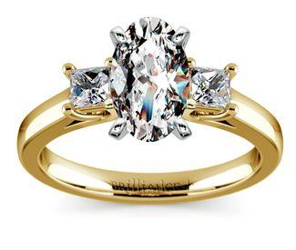 Oval Princess Trellis Diamond Engagement Ring in Yellow Gold  http://www.brilliance.com/engagement-rings/princess-diamond-ring-yellow-gold