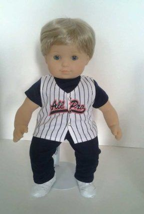 Baseball Dress for American Girl Bitty Twin Girl Dolls