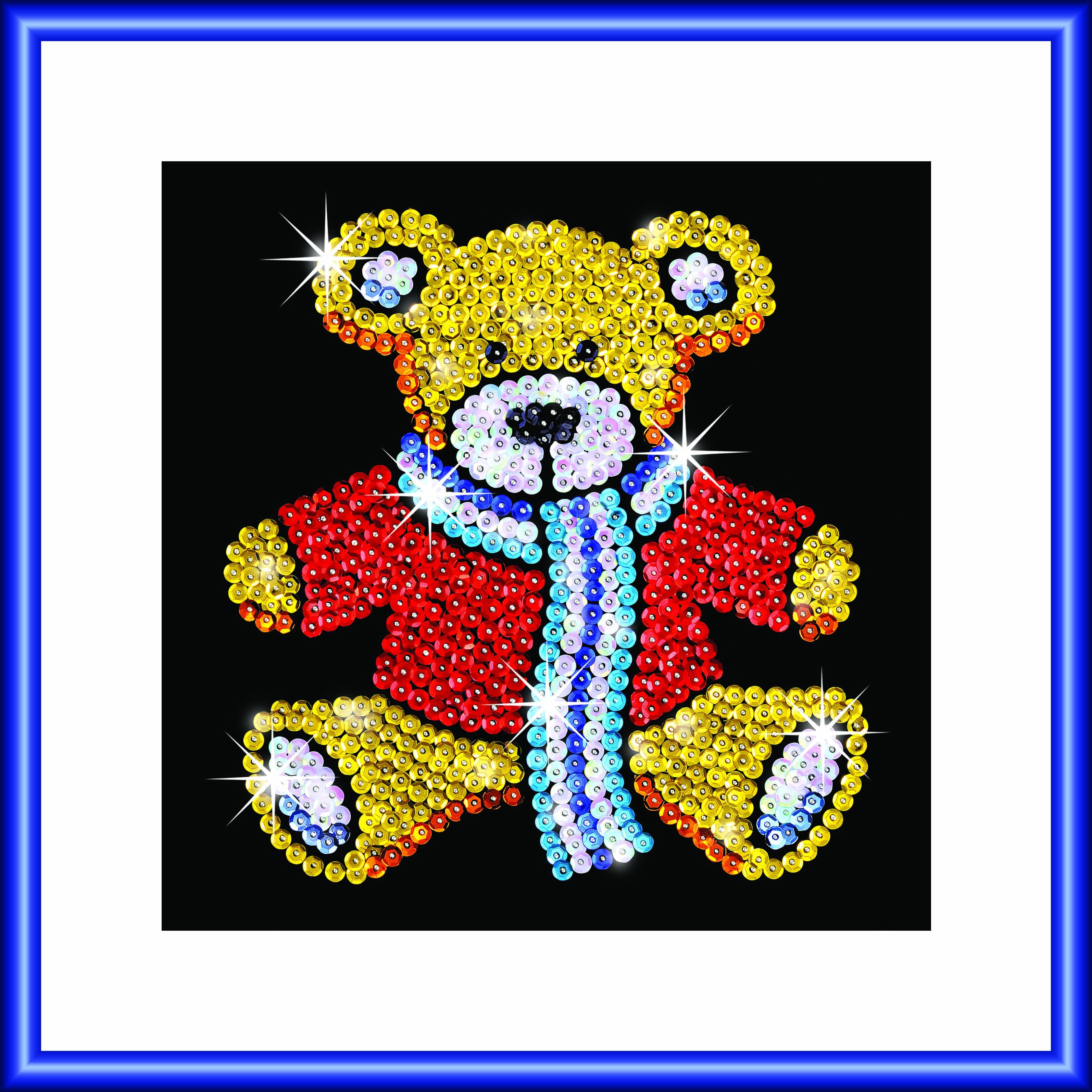 Arts and craft kits - Sequin Art Focus Teddy Craft Kit 1117 Hobbies