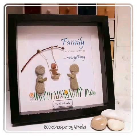 Treat your #family to a #personalised family #pebbleart picture, plenty of designs to choose from! #christmasgiftideas
