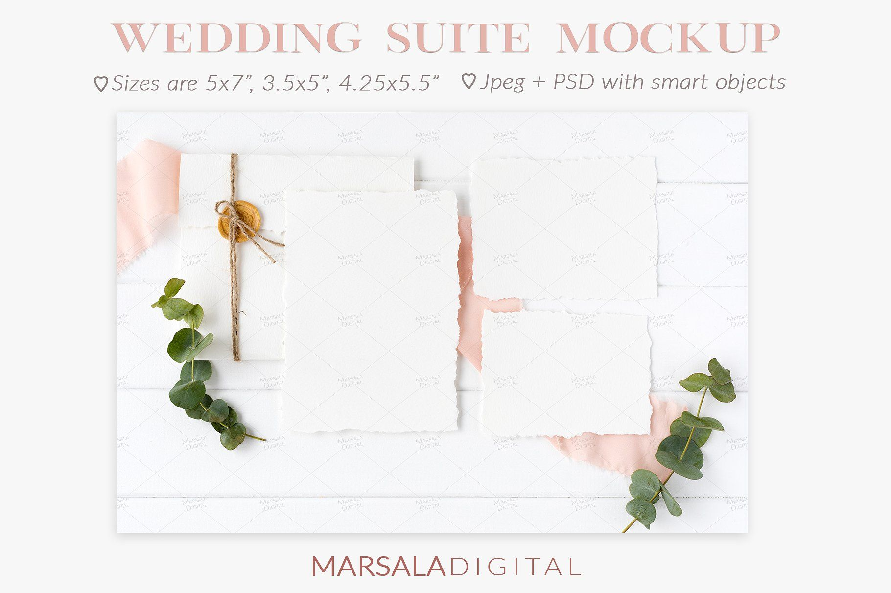 Elegant Blush Wedding Mockup Bundle Blush wedding