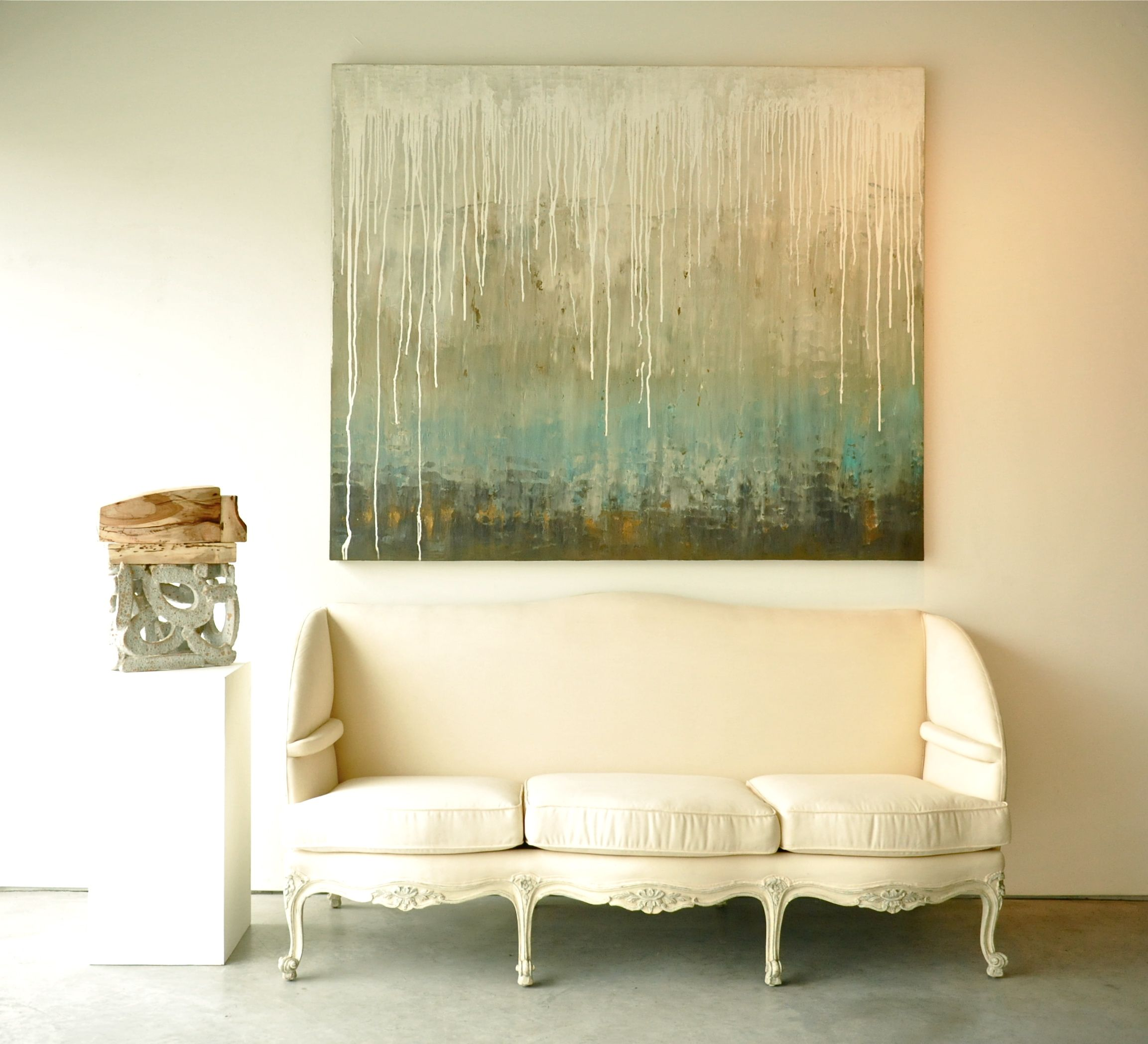 Sofa Paintings Abstract Decoro Leather With Hardwood Frame Melissa Key Art 72x60 Quotrain On The Water Quot