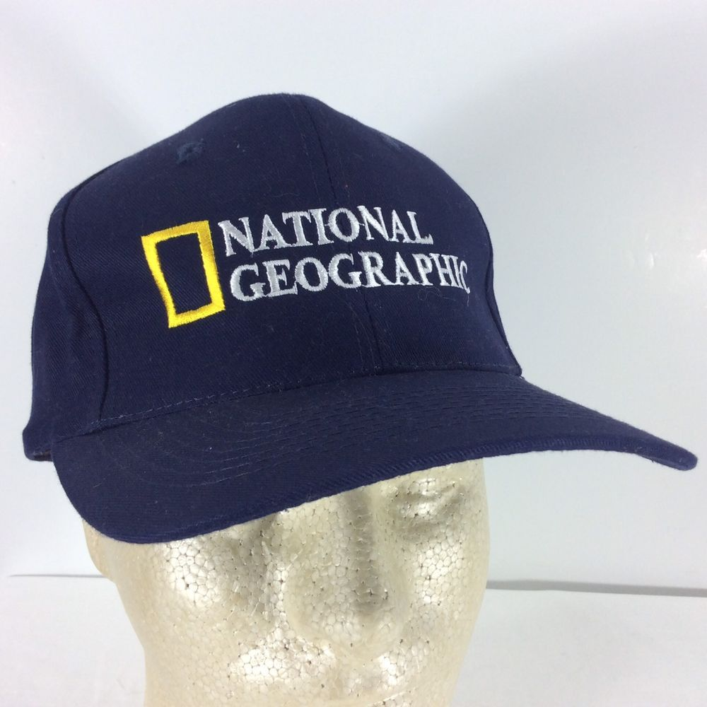 National Geographic Baseball Cap Hat Black Head Shots Adjustable Truckers  Cotton  HeadShots  BaseballCap 0a775d78126