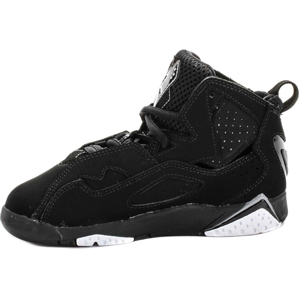 Jordan 343796 010 Air Jordan True Flight Boys Preschool Kids Basketball  Shoes (Black/White