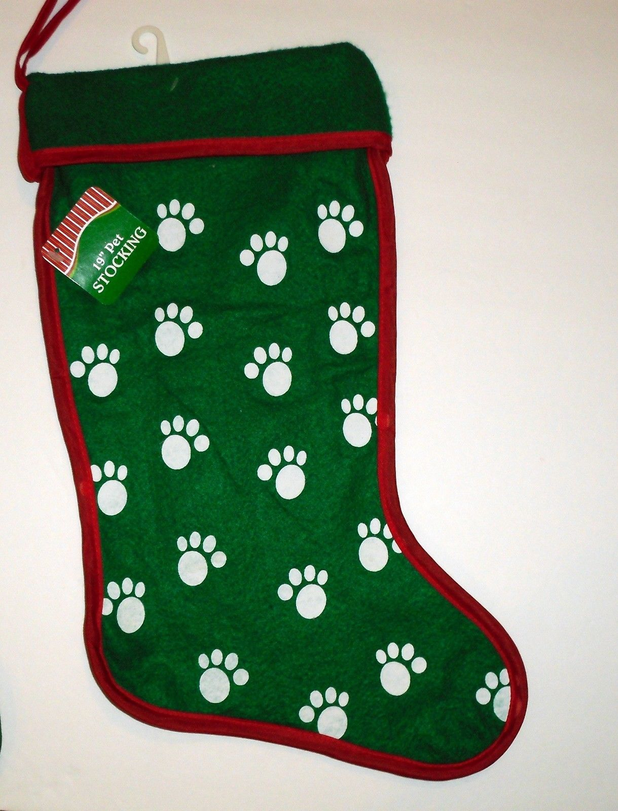 068b0e2143a NEW Large 19   Pet DOG or CAT Christmas Stocking Paw Prints Red or Green   Stockings  ad  Sponsored  Under10dollars  Bargain  Christmas  holiday  Shop   Buy ...