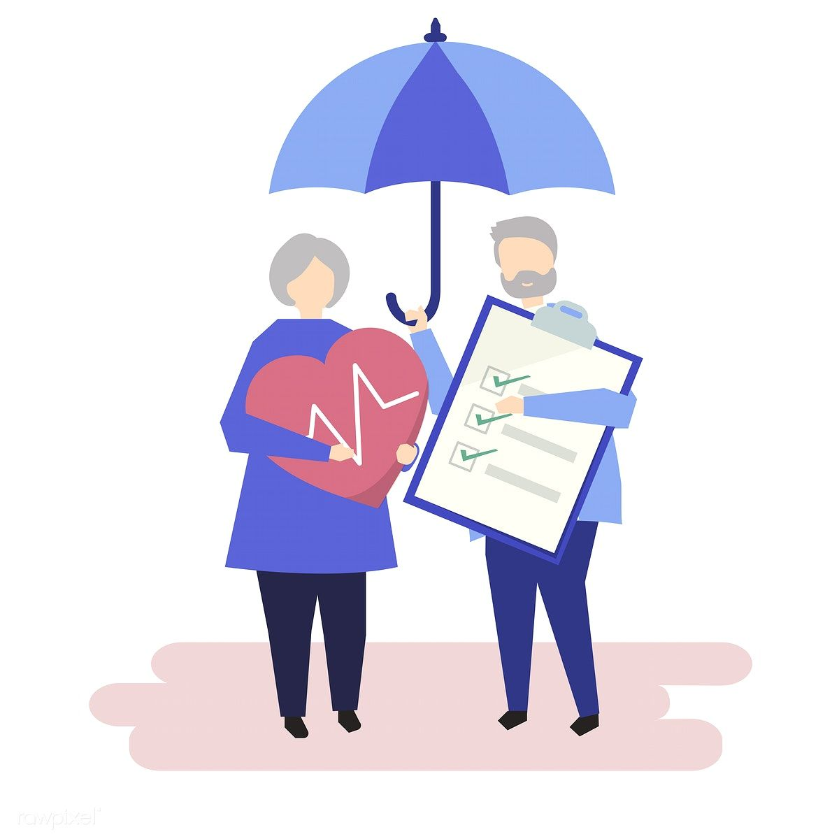 Characters Of A Senior Couple And Health Insurance Illustration Free Image By Rawpixel Com Health Insurance Cheap Health Insurance Insurance
