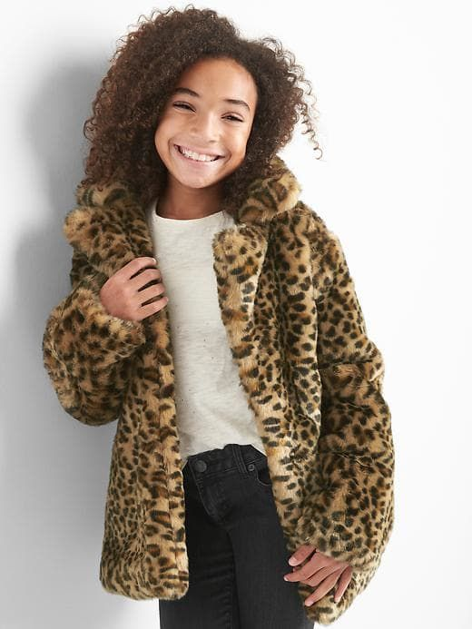 980e730807e5 Gap Girls Leopard Coat Leopard Print Size XXL | Products in 2019 ...