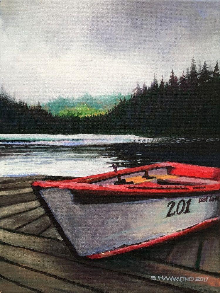 Lost Lake Row Boat Boat Wall Art Boat Boat Wall