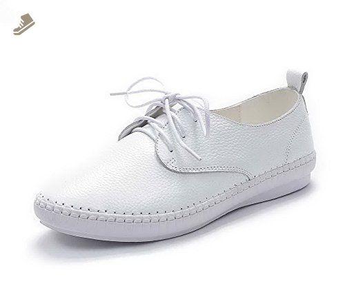 BalaMasa Womens Bandage Hollow Out Wedges Urethane Walking Shoes