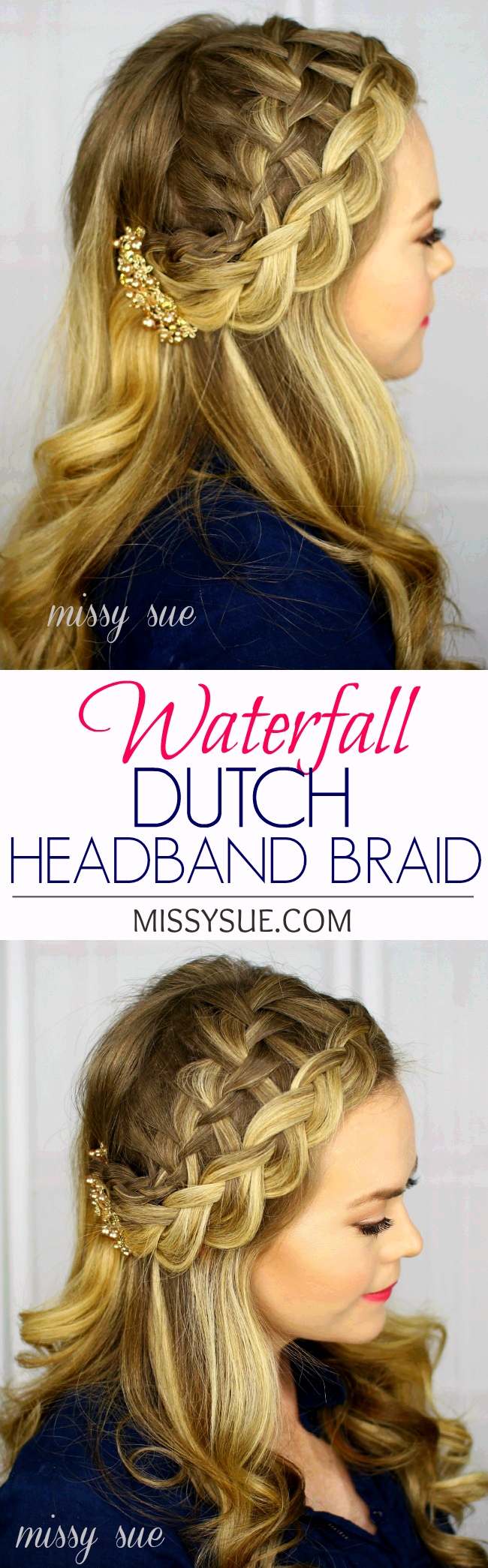 Waterfall Dutch Headband Braid