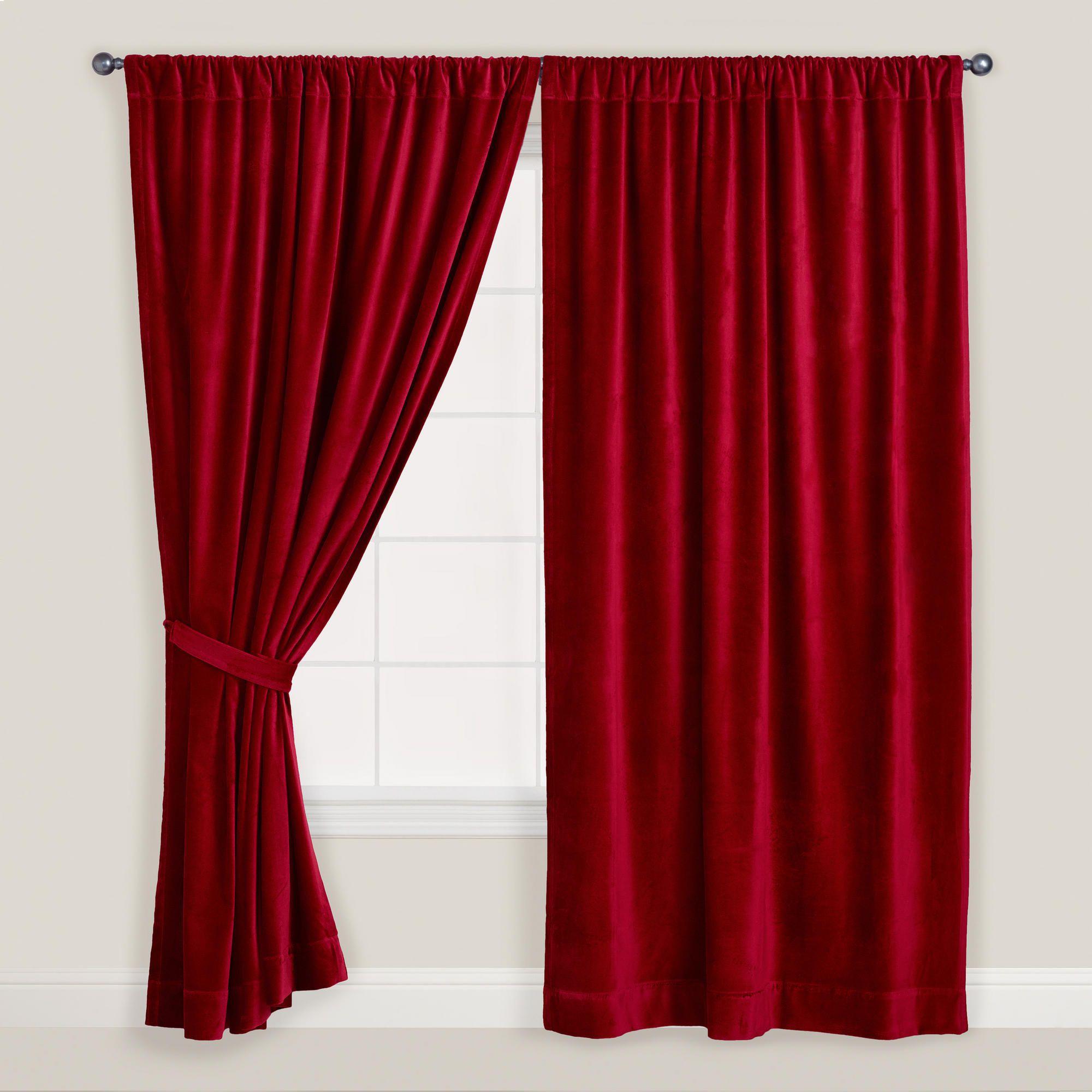 Red Velvet Curtain World Market Velvet Curtains