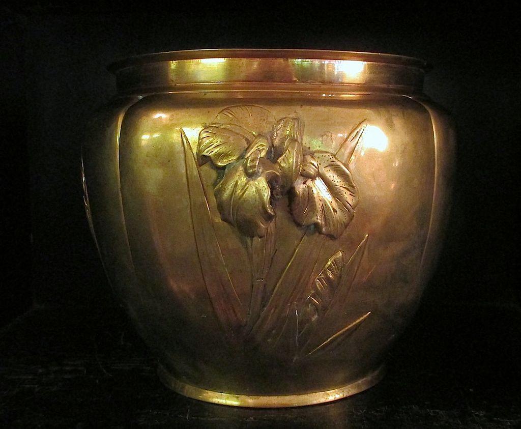 Art Nouveau Brass Jardiniere